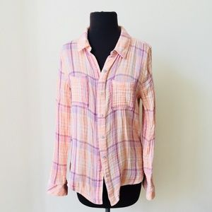 ❗️Nordstrom Hinge Plaid Button Down MSRP $78